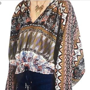Free People Hold on Tight Gauze Boho Pullover